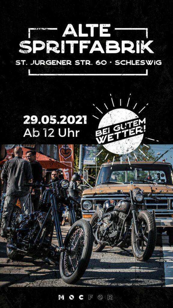Bunte Hunde Oldtimer und Harley Treffen in der alte Spritfabrik Schleswig